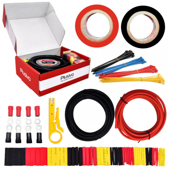 12AWG Hook up Wire Kit - 600V Tinned Stranded Silicone Wire of 2 Different Colors x 3m (9 ft) each