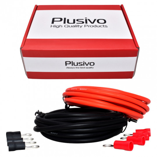 12AWG Hook up Wire Kit - 600V Tinned Stranded Silicone Wire of 2 Different Colors x 3m (10 ft) each