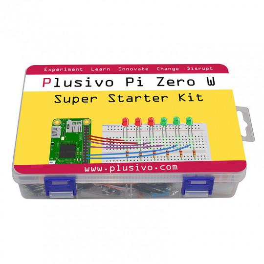 Plusivo Pi Zero W Super Starter Kit without Raspberry Pi Zero WH and without NOOBs - EU and UK interchangeable plug