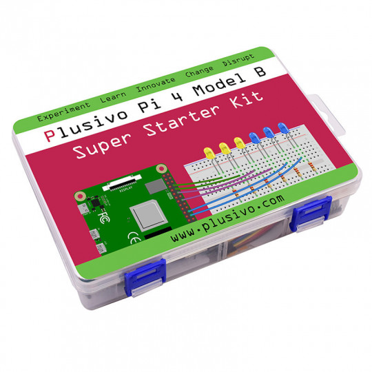 Plusivo Pi 4 Super Starter Kit with Raspberry Pi 4 with 4 GB of RAM and 16 GB sd card with NOOBs