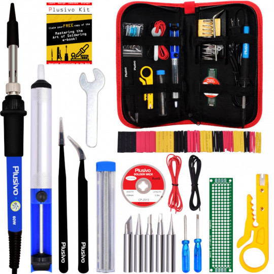 Soldering Kit For Electronics (220-230 V, Plug Type A)