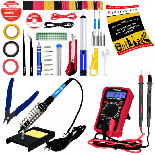 Soldering Iron Kit with Digital Multimeter (220-230 V, Plug Type A)