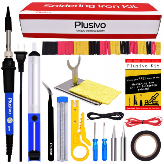 Basic Soldering Kit for Electronics (220-230 V, Plug Type A)