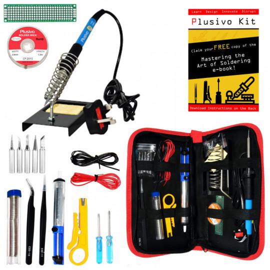Soldering Kit For Electronics (Plug Type: UK)
