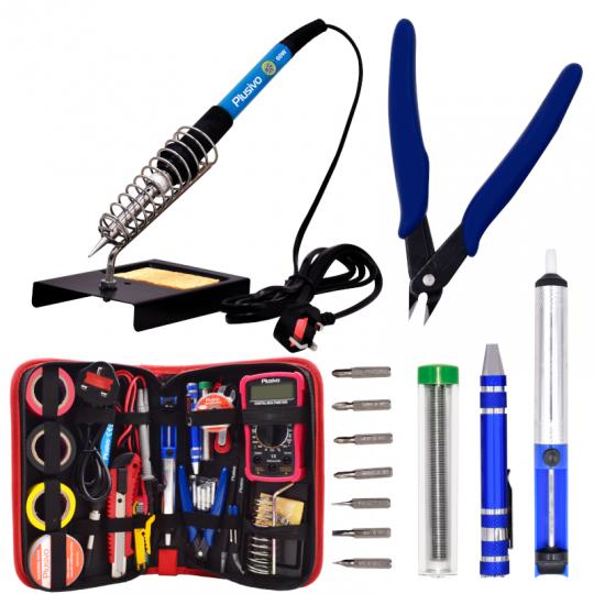 Soldering Iron Kit with Digital Multimeter (230 V, Plug Type: UK)