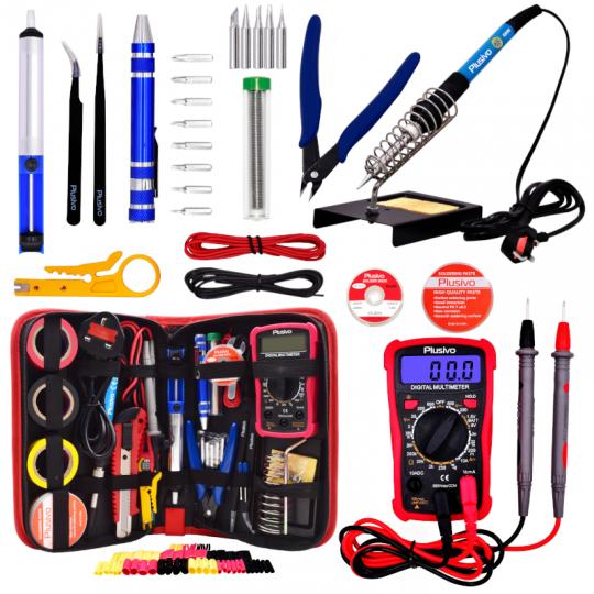 Soldering Iron Kit with Digital Multimeter (UK Plug)