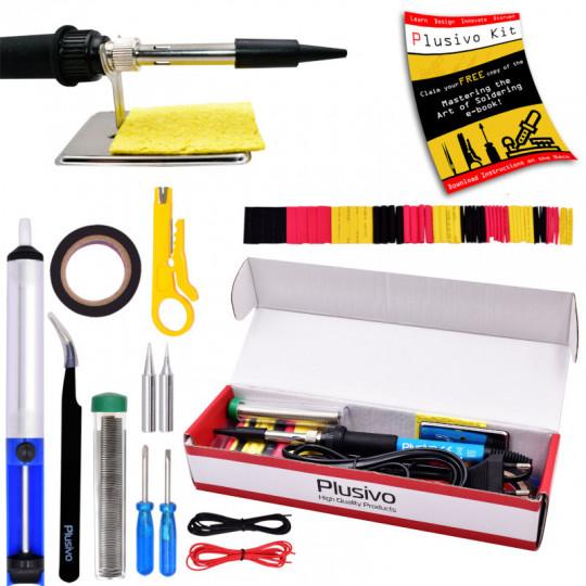 Basic Soldering Kit for Electronics (230 V, Plug Type: EU)