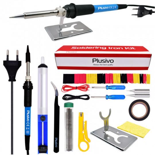 Basic Soldering Kit for Electronics (Plug type: EU)